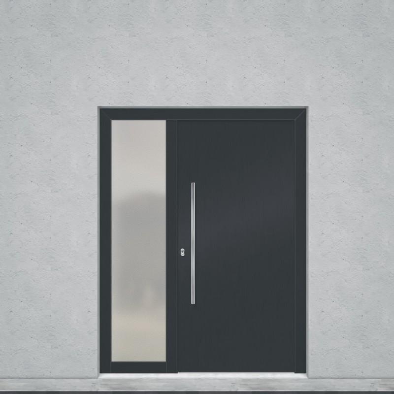 vchodové dveře PVC s GFK